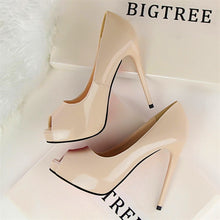 Load image into Gallery viewer, Women Heels Sexy Peep Toe Wedding Shoes Stiletto 12 cm