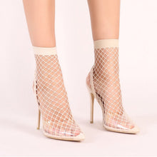 Load image into Gallery viewer, Fishnet Sandals Mesh Holes Sexy Party High Heel Ankle Boots