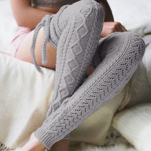 Load image into Gallery viewer, Thigh High Warm Stockings Knit Boot Thigh High