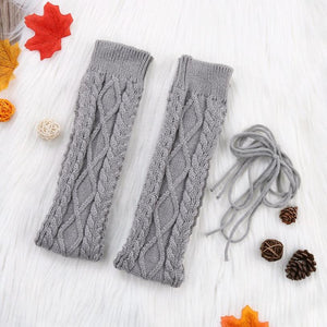Thigh High Warm Stockings Knit Boot Thigh High