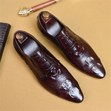 Load image into Gallery viewer, Oxfords Leather Brogues Shoes