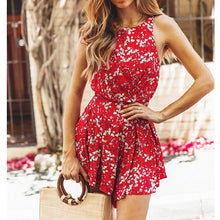 Load image into Gallery viewer, Short Playsuit Fashion Ladies Sleeveless O-Neck Jumpsuit New