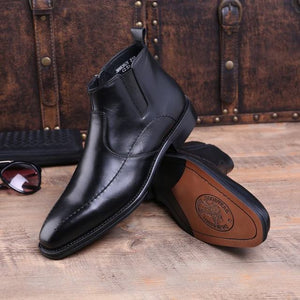 Genuine Leather Boots Male Business Shoes