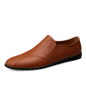 Loafers Genuine Leather Moccasins Breathable Slip On Boat Shoes