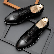 Load image into Gallery viewer, Genuine Leather Oxfords Shoes Laces Leather Flats Shoes