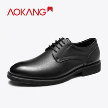 Load image into Gallery viewer, Genuine Leather Lace Up Breathable Formal Shoes