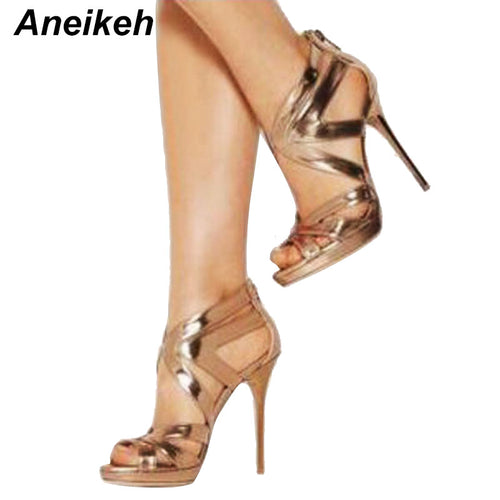 High Heels Hollow Out Sandals Open Toe Platform