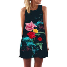 Load image into Gallery viewer, Casual Party Dress Sleeveless O-Neck Chiffon