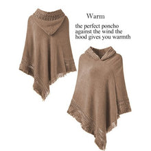 Load image into Gallery viewer, SAYFUT Fashion Knit Tassel Fringed Pullover Poncho Sweater Cape Shawl Wrap for Women