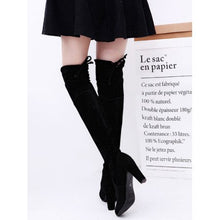 Load image into Gallery viewer, Womens Ladies Thigh High Boots Over The Knee Party Stretch Block High Heel