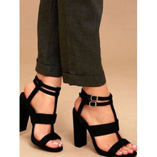 Load image into Gallery viewer, Women High Chunky Block Heels Sandals Buckle Ankle Strappy Slingback Party Shoes