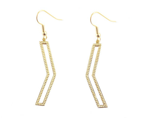 Dame Chevron Earrings