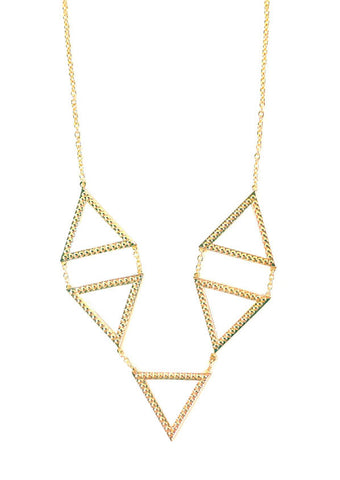 Dame 5-Station Triangle Necklace