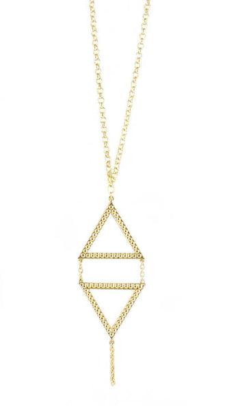 Dame Double Triangle Necklace