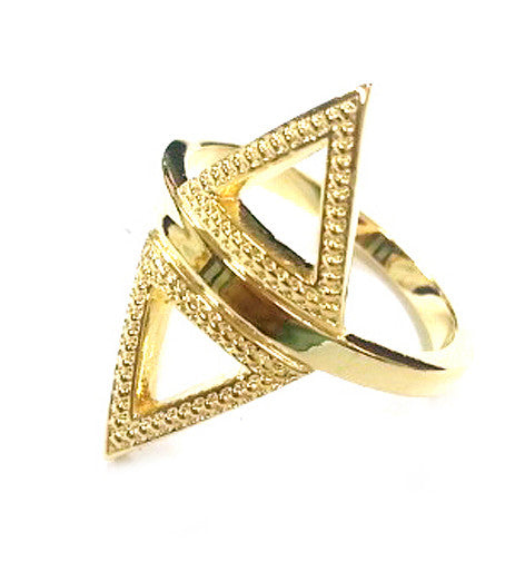 Dame Double Triangle Ring