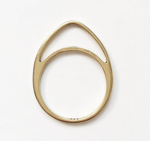 Artemis Half-Moon Skinny Stack Ring