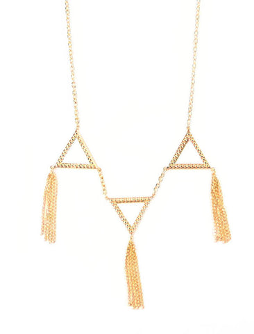 Dame 3-Triangle Dangle Necklace
