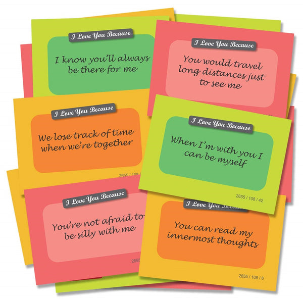 100 ways to Say I love you I Care for you (100cards)