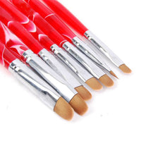 7Pcs/Set UV Gel Nail Art Brush Polish Painting Pen Kit Salon DIY Manicure Tools
