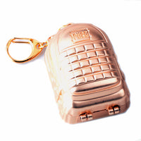 Any 1 colors 7cm Playerunknown's Battlegrounds Keyring Game PUBG Backpack Level 3 Model Keychain Charm Gift Souvenir for fans