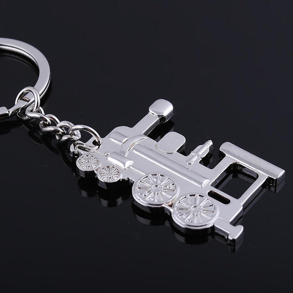 Vintage Train Pendant Alloy Keychain Handbags Key Holder Keyring Bag Hangings