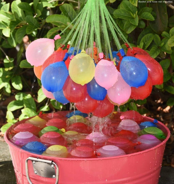 Holi Water Balloons / Multcolor Magic Water Balloon Maker - 111 Balloons in Total- Fill & Tie the Whole Bunch of Water Balloons in Just 60 Seconds - No More Struggle or Hassle - Great Holi