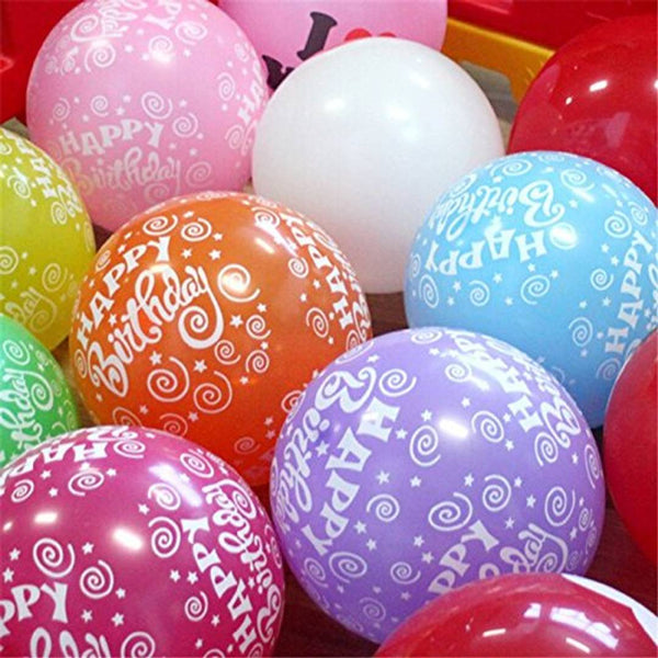 Toy Balloon Happy Birthday Printed (Pack of 30)