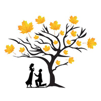 Wall Sticker Loving Couple Under A Tree Decorative Wall Sticker(48 cm X  61) - Abelestore