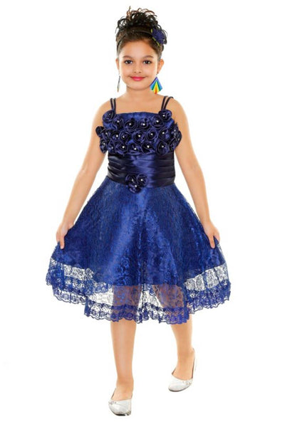 Stunning Kids Girls Festive/Party Wear Floral Dress - Abelestore