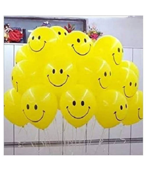 Yellow Smiley Every Party Decoration Balloons (Yellow, Pack of 30)