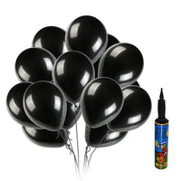 100pcs Abel NHR Happy Birthday Decoration Black HD Metallic Balloons with Pump