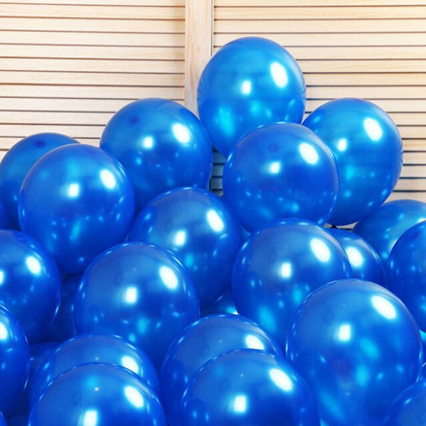 Metallic Balloons for Birthday Party, New Year, Diwali & Anniversary Decoration (Pack of 50) - Abelestore