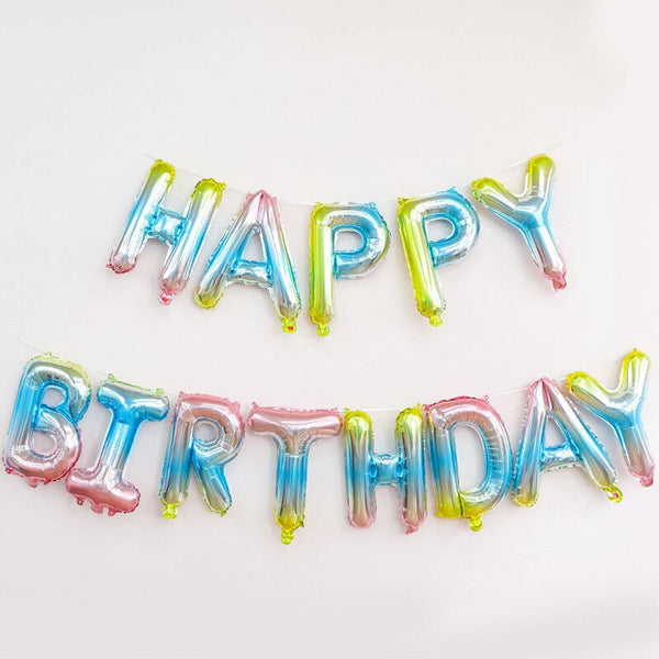Abel Happy Birthday Foil Balloon Banner for Party Decoration - Abelestore