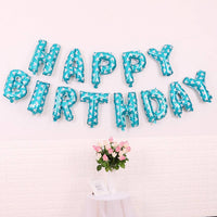 Happy Birthday Foil Balloon Banner for Party Decoration