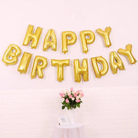Abel Happy Birthday Foil Balloon Banner for Party Decoration Bday Golden