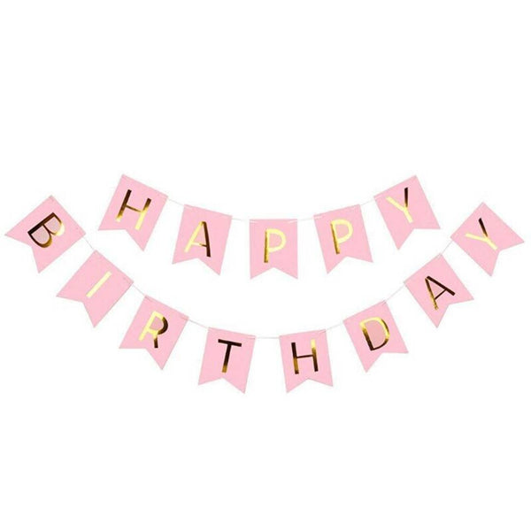 Happy Birthday Banner Bunting Flag Banner for Birthday Party Decoration - Abelestore