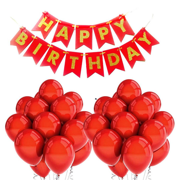 Abel Happy Birthday Banner & Balloons for Birthday Party Decoration 51pcs