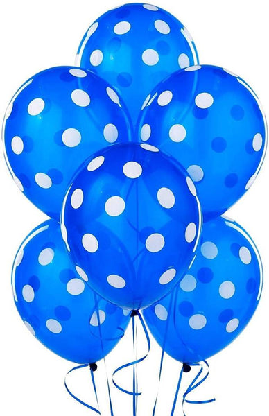 Abel Happy Birthday Dotted Balloons for Birthday Party Decoration (Pack of 50)