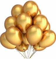 Golden Abel Happy Birthday Balloons for Birthday Party Decoration (Pack of 50) - Abelestore