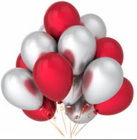 Metallic Balloons for Birthday Party, New year, Christmas, Valentine Decoration (Pack of 50)