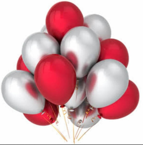 Metallic Balloons for Birthday Party, New year, Christmas, Valentine Decoration (Pack of 50) - Abelestore