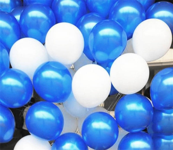Metallic Balloons (Blue, White)
