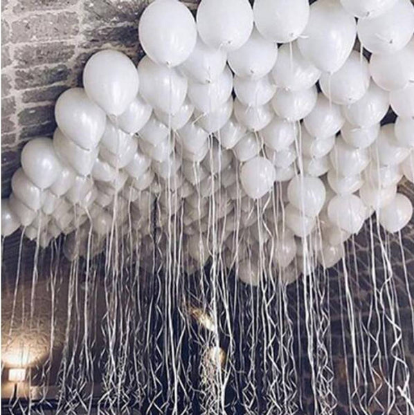 50pcs Abel Metallic Balloons (White)