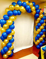 Metallic  Balloons (Gold, Blue) - Abelestore