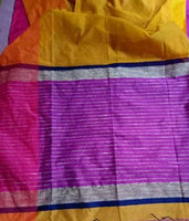 Attractive Handloom Cotton Silk Saree with Blouse piece - Abelestore