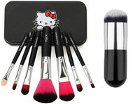 Hello Kitty High Quality Make-Up Brushes Black With Black Foundation Brush