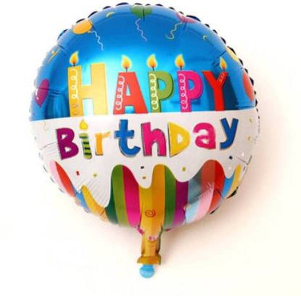 Printed Happy Birthday Candle Foil Balloon - Pack Of 1 Balloon