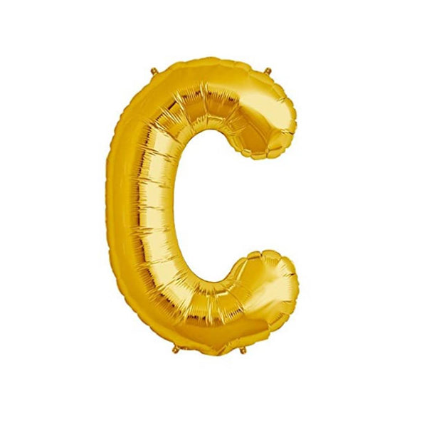Unique Alphabet Foil Balloon -C (Golden)