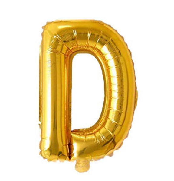 Unique Alphabet Foil Balloon -D (Golden)