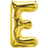 Unique Alphabet Foil Balloon -E (Golden)